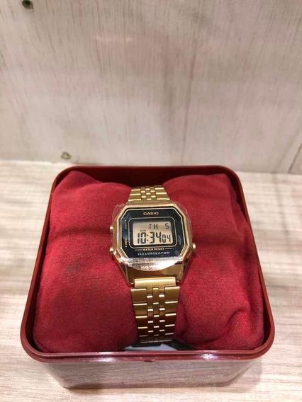 Relogio Casio 3264 La3284 Dourado Original 1 Ano De Garantia