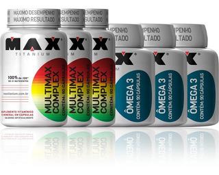 Multimax 90 Capsulas + Ômega 3 90 Capsulas - Max Titanium