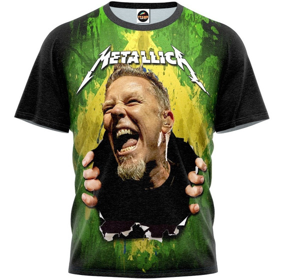 Camiseta Blusa Metallica Masculina Estampa Digital Mod 0047