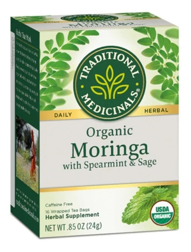 Moringa Orgánica - 16 Bolsitas De Te