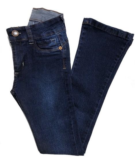 Calça Jeans Flare Menina Feminina Infantil Juvenil