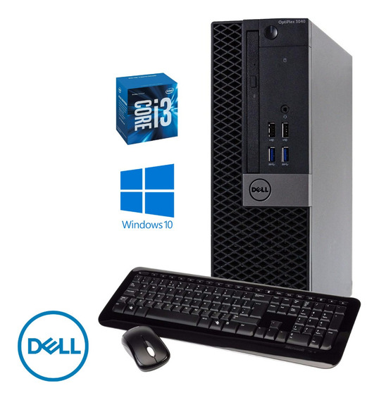 Cpu Dell 3040 Core I3 6100t 4gb Ram Hd 500gb Windows 10 Pró