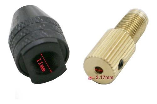 KERDEJAR Broca haohao3 Eje de Motor el/éctrico de 3,17 mm Broca de 0,3 mm a 3,5 mm Mini Abrazadera de sujeci/ón de portabrocas