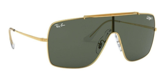 Lentes De Sol Ray Ban Wings 2 Rb3697 9050/71 Dorado Original