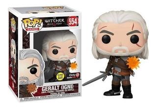 Funko Pop The Witcher Wild Hunt Geralt Igni 554 Glows