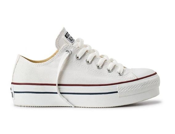 Zapatillas Con Plataforma Converse All Star Blancas