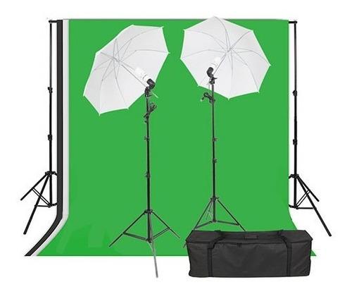 Imagem 1 de 8 de Kit Fundo Infinito Verde Newborn Softbox Iluminação Continua