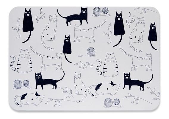 Alfombra Placa Baño Diseño Cats Morph