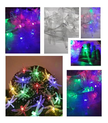 Imagen 1 de 5 de Serie Navideña Multicolor 30 Libélulas Para Luz Eléctrica