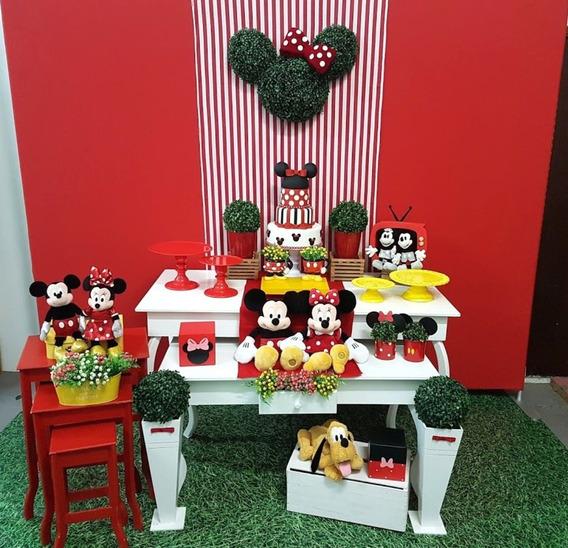 Decoração Minnie Vermelha Mesas Brancas (locação Sp)