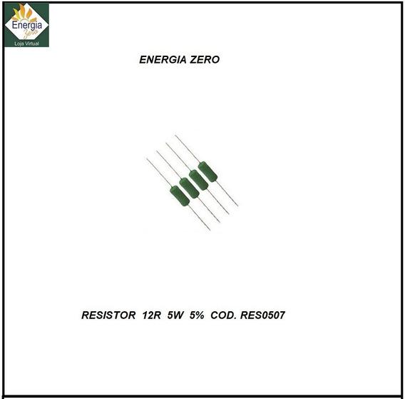 Resistor 12,0 Ohms 5w 5% Cod.res0507