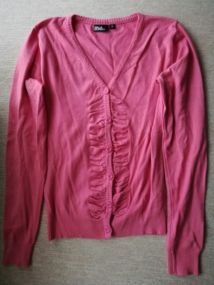 Pullover Abierto Mujer Color Rosa Talle 40 Impecable
