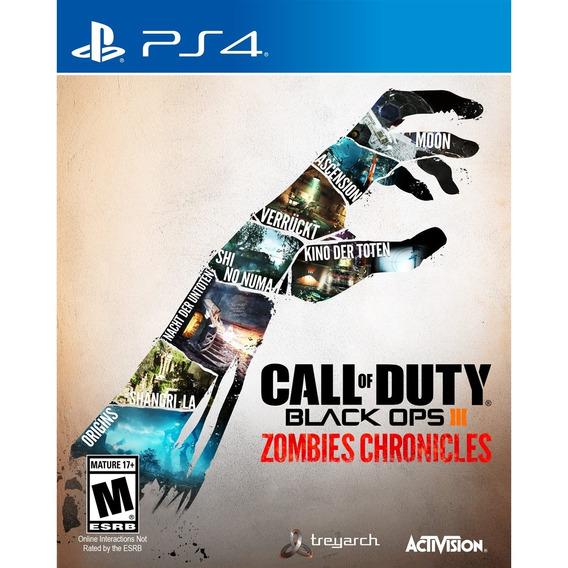 Call Of Duty Black Ops 3 Zombies Ps4 Mídia Física Lacrado