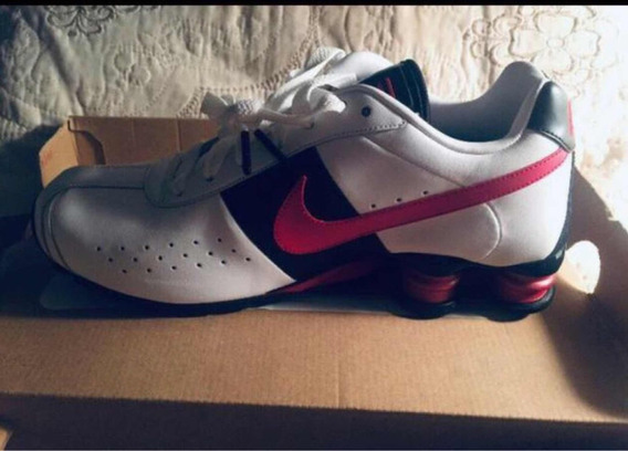 Tênis Nike Shox Tam 39 40 Lindo Todo De Couro Original!