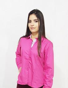 1a4882e79 Camisa Social Rosa Feminina Fucsia - Calçados, Roupas e Bolsas no ...