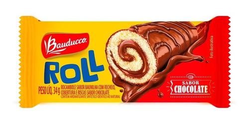 Bolinho Roll Sabor Chocolate Bauducco 34g
