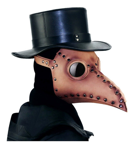 Máscara De Peste Plague Doctor Cosplay Marrón