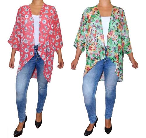Kimono Corto Mariposa Amplio Suelto Cardigan Seda Moda Mujer