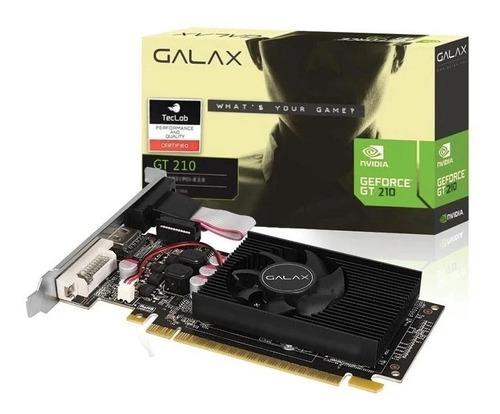 Placa De Vídeo Galax Gt 210 1gb Ddr3 Low Prof 12x Sem Juros