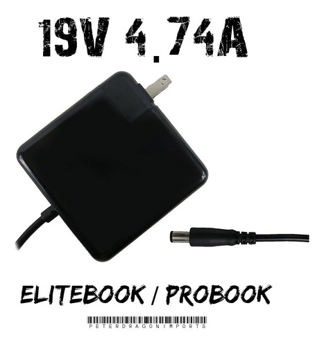 Imagen 1 de 1 de Cargador De Lujo Para Hp Notebook Probook Elitebook De 19v