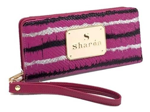 Billetera Mujer Cuero Pu Ecológico Mediana Completa Sharon
