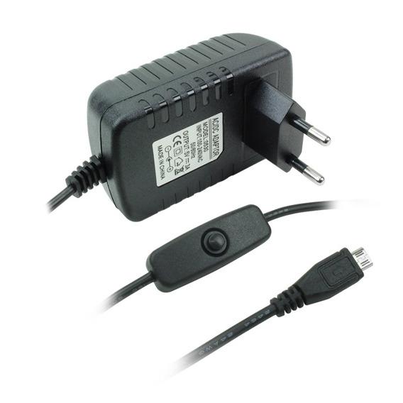 Fonte Chaveada 5v - 3a Plug Micro Usb Com Chave