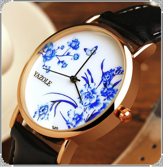 Relógio Feminino Yazole 349 Oriental Style Original Importad