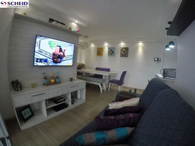 Oportunidade, Apart 02 Dorm(s) Sendo 1 Suite, Condomínio Com Lazer Completo - Mr64366