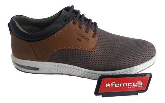 Sapato Sapatênis Ferricelli Masculino Couro Legítimo + N F