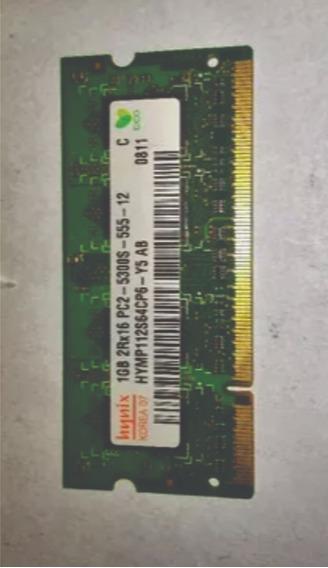 Pente Memoria 1gb Ddr2 Pc2 5300s Hynix