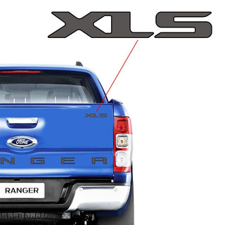 Adesivo Emblema Xls Ford Ranger Cs Sport Xls 2013/ Grafite