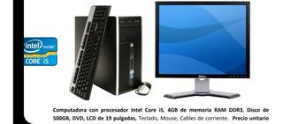 Computadora Corei5 4 Gb Ram 500 Gb Disco Envío Gratis