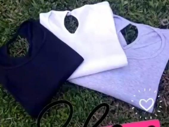 Camisetas Básicas De Algodón Con Abertura En Espalda