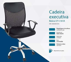 Cadeira De Escritório Executiva Diretor Ut-c161a Preto Best
