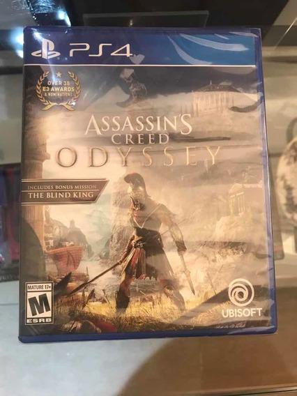 Juego Ps4 Assasins Creed Odyssey Nuevo Juego Físico Sellado