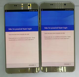 Samsung Galaxy Note 5 N920g Original Vitrine Dourado Burn-in