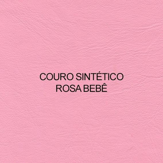 02 Metros Courino Rosa Bebê Claro + Frete Sp