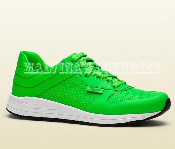Sneaker Tenis Gucci Ipanema Verde Neon 42 Br 100% Original
