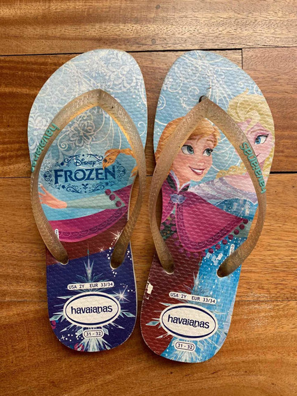 Ojotas Havaianas Frozen Original Talle 31-32
