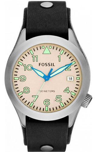Relógio Fóssil Masculino Pulseira De Couro Am4552/0cn