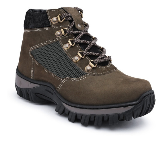 Bota Coturno Adventure Couro Legitimo Imperdivel 70% Off