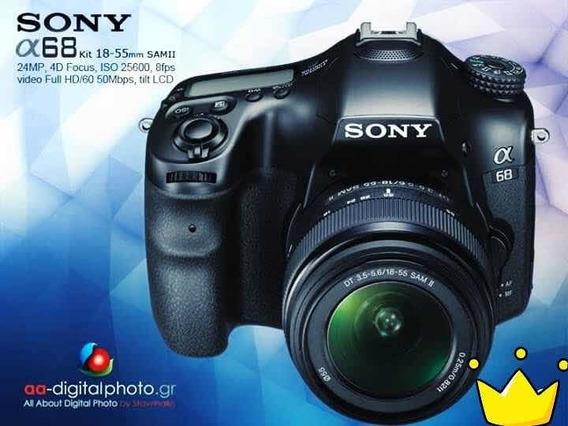 Reflex Sony A68 Aps-c 24.3 M / 1300 Cliks + 3 Lentes Novos