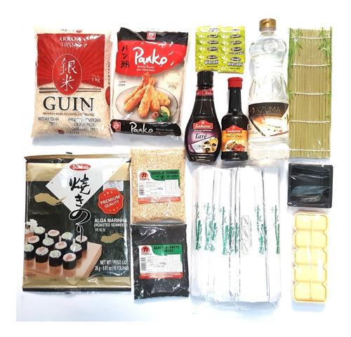 Kit Sushi / Hot Roll 4 - Completo Sem Barco ( Wasabi Sachê )