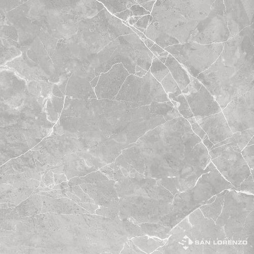 Imagen 1 de 7 de Porcellanato 1cal 57,7x57,7 Marmol Suria Grey San Lorenzo