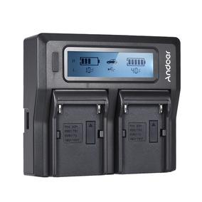 Andoer Np -f970 Carregador Bateria Câmera Digital Dual Canal