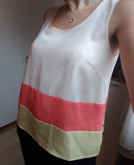 Musculosa Tucci - Tricolor - Usada - Perfecto Estado