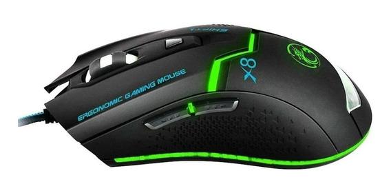 Mouse Gamer B-max X8 Confortavel E Luz Led