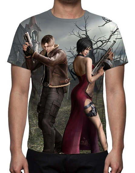 Camisa, Camiseta Game Resident Evil 4 - Estampa Total