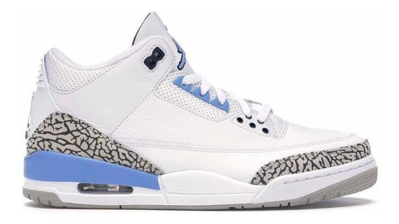 Sneakers Original Jordan 3 Retro Unc 2020 Blanco Azul Origin