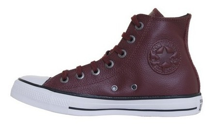 Zapatillas Converse All Star Hi 164728c Bordo Cuero